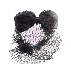 Bow Hair Clip with Net
