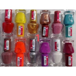 12 Pack Nail Polish - Assorted Colours