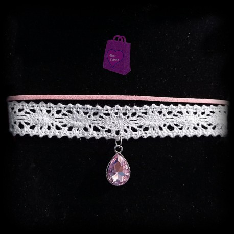 Lace Choker with Charm