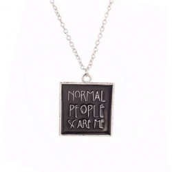 Normal People Scare Me - American Horror Story Necklace