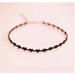 Black Faux Suede Heart Choker Necklace