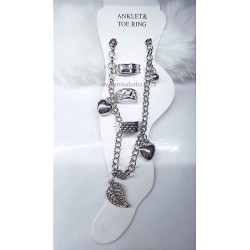 Anklet and Toe Ring Set