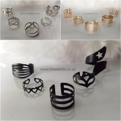 Fashion Ring Set 5pc