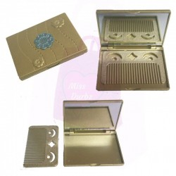 Compact Mirror with Comb - Blue