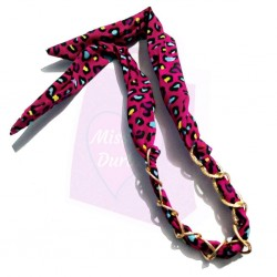Twisted Chain Wired Hair Band - Animal Print