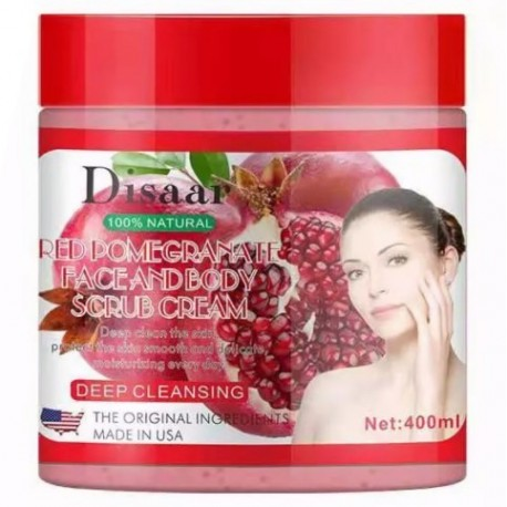 Disaar Red Pomegranate Face & Body Scrub Cream