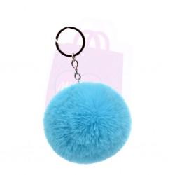 Fluffy Pom Pom Keyring
