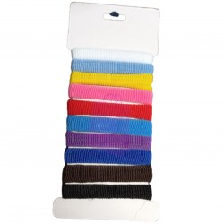 10pc Assorted Colour Hair Bands